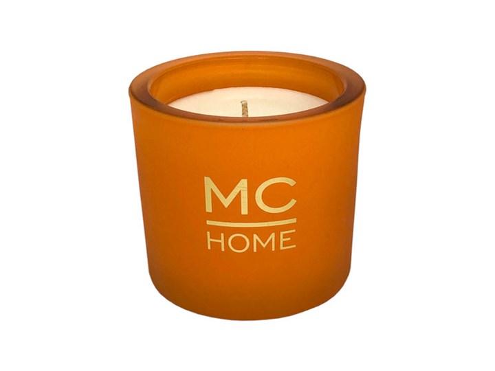 ŚWIECA ZAPACHOWA POMARAŃCZOWA WOOD & RUM MC HOME 8X9CM Metal Kolor Pomarańczowy
