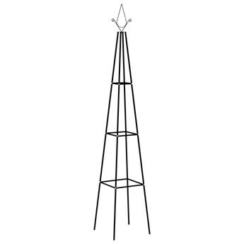VidaXL Stojaki na pnącza, 2 szt., czarne, 35x35x195 cm, żelazne