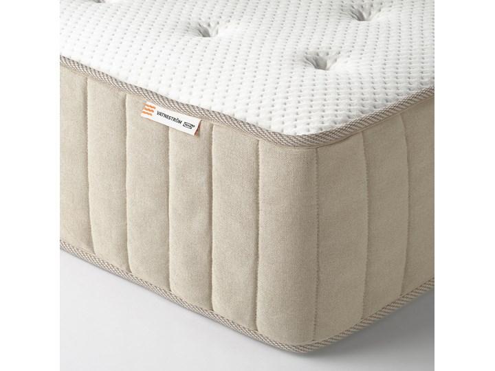 IKEA ESPEVÄR/VATNESTRÖM Łóżko kontynentalne, biały/twardy naturalny, 180x200 cm Kolor Beżowy Kategoria Łóżka do sypialni