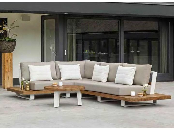 Meble ogrodowe aluminiowe - narożnik nowoczesny na taras FITZ   Dekkor Zestawy wypoczynkowe Aluminium Kategoria Zestawy mebli ogrodowych