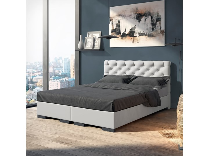Łóżko Prestige kontynentalne Grupa 1 140x200 cm Tak Kolor Szary Łóżko tapicerowane Rozmiar materaca 180x200 cm