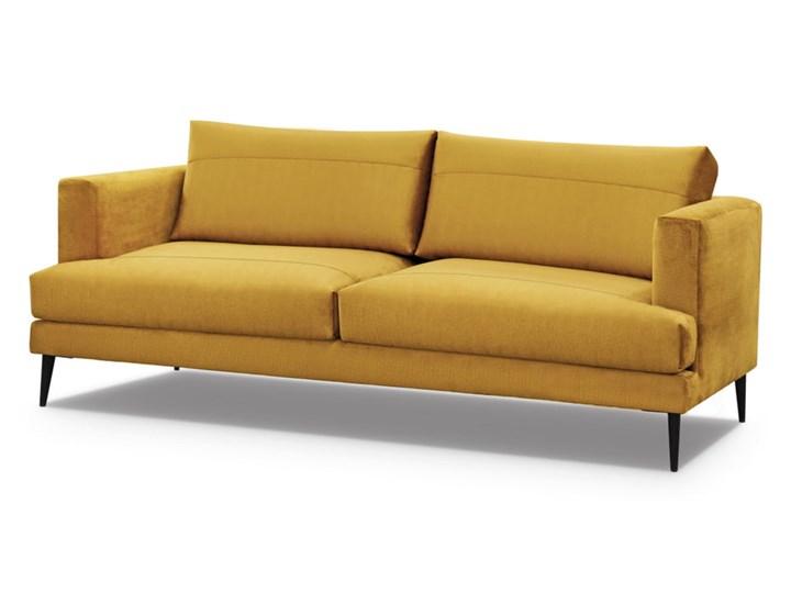 Sofa 2-osobowa miodowa na czarnych nogach 184X90X76CM Stała konstrukcja Głębokość 90 cm Materiał nóżek Metal