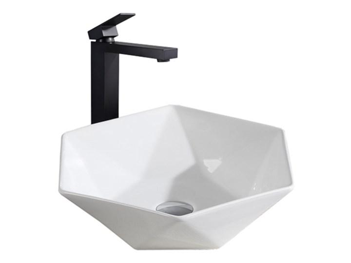 VELDMAN NABLATOWA UMYWALKA CERAMICZNA SONET 41 Owalne Meblowe Szerokość 41 cm Ceramika Nablatowe Kategoria Umywalki