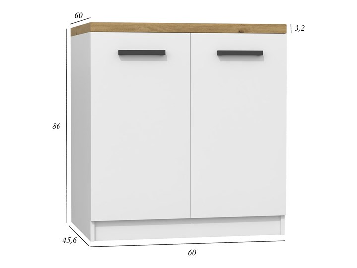 Szafka kuchenna Stejar 12X - biały mat + dąb artisan Drewno Kategoria Szafki kuchenne