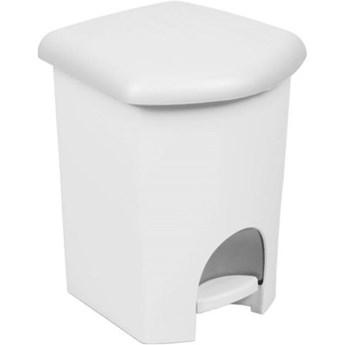 Kosz na śmieci PLAST TEAM 1356 16 L Biały