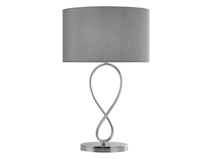 Lampa stołowa GoodHome Carnavon E14 chrom Kolor Szary Kategoria Lampy stołowe