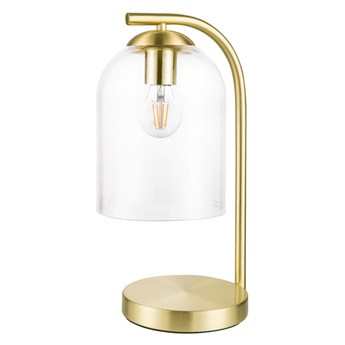 Lampa stołowa GoodHome Thestias 1-punktowa E27 transparentna / mosiądz