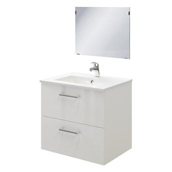 Zestaw szafka pod umywalkę Pyxis 60 cm z lustrem biała