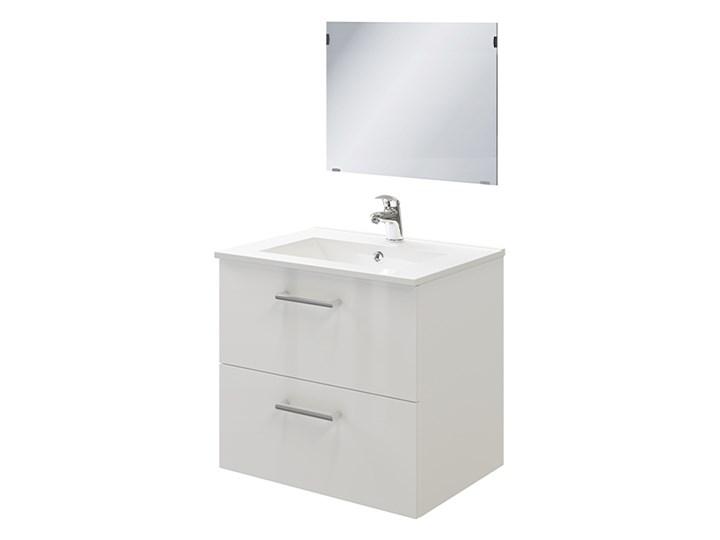 Zestaw szafka pod umywalkę Pyxis 60 cm z lustrem biała Wysokość 55 cm Głębokość 45 cm Wysokość 43 cm Kolor Biały