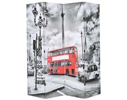 Składany parawan, 160x180 cm, londyński autobus, czarno-biały kod: V-245874