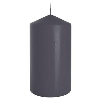 Świeca pieńkowa ciemnoszara wys. 15 cm