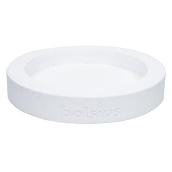 Świecznik ceramiczny 18.2 x 18.2 cm biały