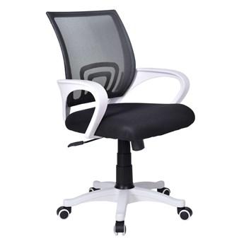 Fotel biurowy Bianco biało-czarny