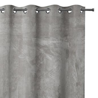 AmeliaHome - Zasłony Zaciemniające na przelotkach Srebrne VELVET - 140x245 cm
