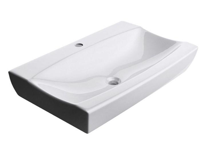VELDMAN UMYWALKA CERAMICZNA STELLA ROZMIAR DO WYBORU Kategoria Umywalki Prostokątne Nablatowe Ceramika Meblowe Szerokość 42 cm Kolor Biały