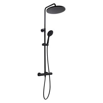 Kolumna prysznicowa Kuchinox Boro z baterią termostatyczną czarna