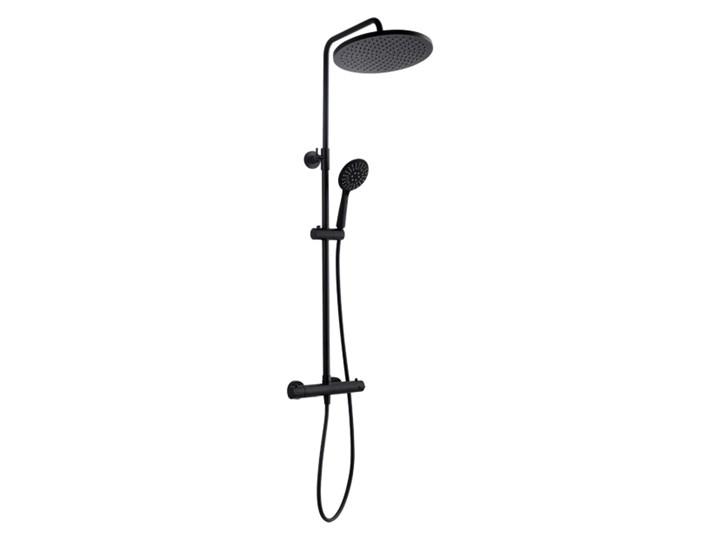 Kolumna prysznicowa Kuchinox Boro z baterią termostatyczną czarna Kolor Czarny