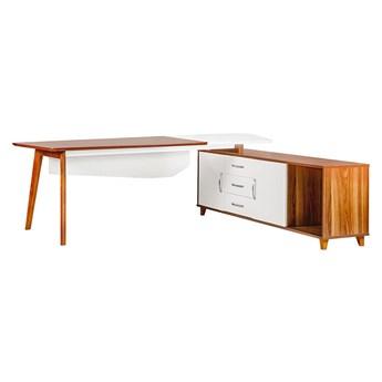 Duże biurko z pomocnikiem Evolutio A309, 240x110