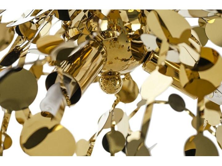 Lampa wisząca Monete złota single Lampa z kloszem Stal Ilość źródeł światła 3 źródła Metal Kolor Złoty