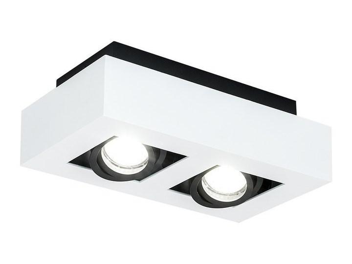 Lampa sufitowa natynkowa OSMIN 2 White IP20 kwadratowa podwójna biało - czarna mat EDO777145 EDO Prostokątne Oprawa stropowa Kwadratowe Kolor Biały