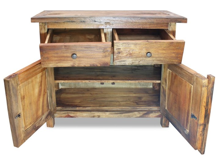 vidaXL Szafka, lite drewno z odzysku, 75 x 30 x 65 cm Głębokość 30 cm Z szafkami i szufladami Szerokość 105 cm Szerokość 75 cm Pomieszczenie Sypialnia