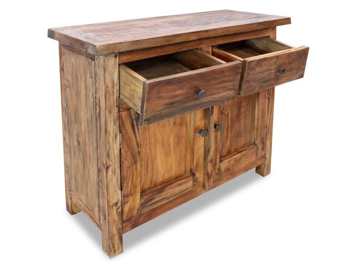 vidaXL Szafka, lite drewno z odzysku, 75 x 30 x 65 cm Szerokość 105 cm Szerokość 75 cm Głębokość 30 cm Z szafkami i szufladami Pomieszczenie Sypialnia