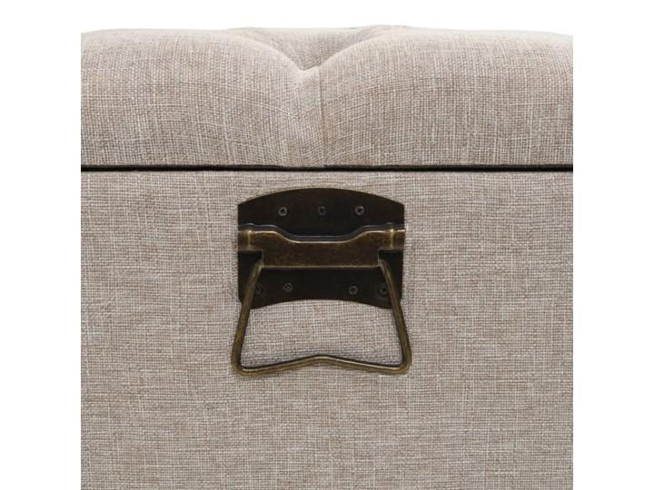 vidaXL Ławka ze schowkiem i oparciem, tkanina, 121 x 53 x 78 cm Pomieszczenie Salon Skrzynia Z oparciem Styl Vintage
