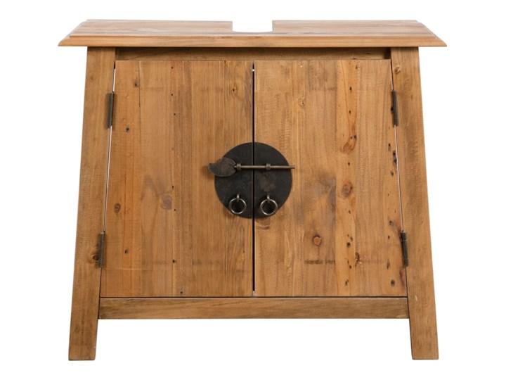 vidaXL Szafka łazienkowa pod umywalkę, drewno sosnowe, 70x32x63 cm Głębokość 32 cm Stojące Rodzaj frontu Drzwiczki Szerokość 70 cm Szafki Kategoria Szafki stojące