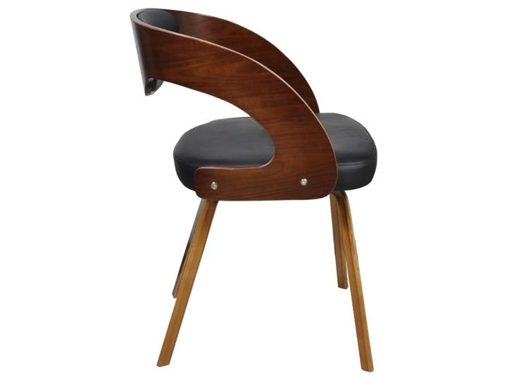 vidaXL Krzesła stołowe, 4 szt., brązowe, gięte drewno i sztuczna skóra Szerokość 48,5 cm Głębokość 44 cm Skóra ekologiczna Tapicerowane Wysokość 76 cm Krzesło inspirowane Tkanina Płyta MDF Szerokość 52 cm Tworzywo sztuczne Pomieszczenie Jadalnia