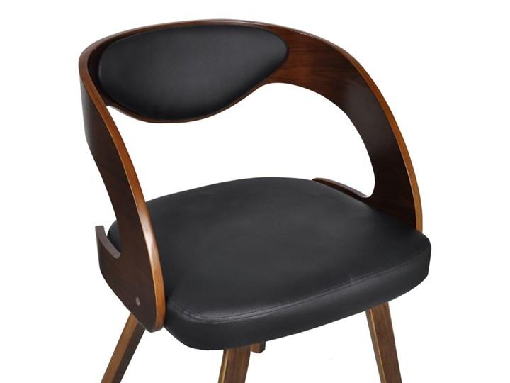 vidaXL Krzesła stołowe, 4 szt., brązowe, gięte drewno i sztuczna skóra Tkanina Skóra ekologiczna Wysokość 76 cm Tapicerowane Płyta MDF Kolor Brązowy Głębokość 44 cm Szerokość 48,5 cm Szerokość 52 cm Krzesło inspirowane Tworzywo sztuczne Kategoria Krzesła kuchenne