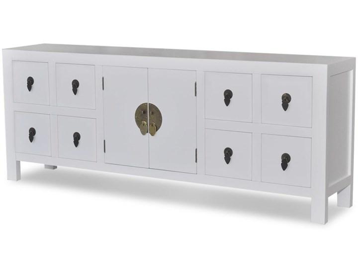 vidaXL Drewniana komoda azjatycka z 8 szufladami i 2 drzwiami