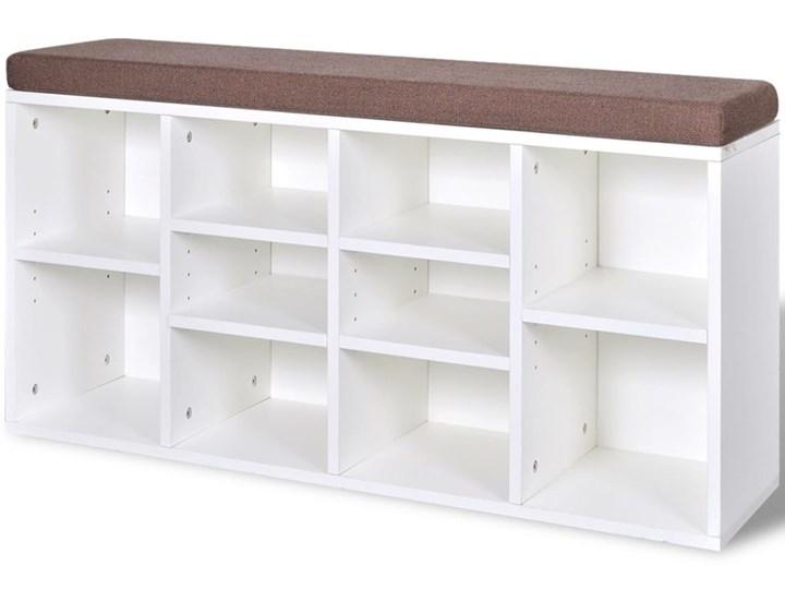 vidaXL Ławka z półką na buty, 10 przegródek, biała Kolor Biały