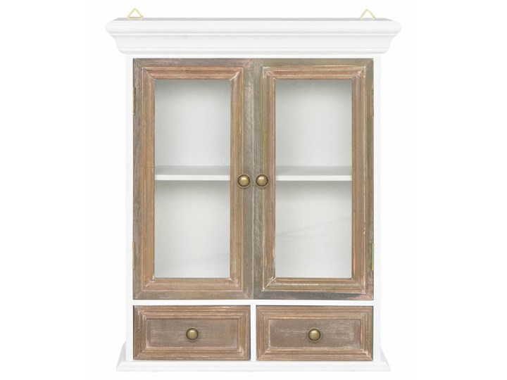 vidaXL Szafka wisząca, biała, 49 x 22 x 59 cm, lite drewno Kolor Biały Kategoria Szafki kuchenne
