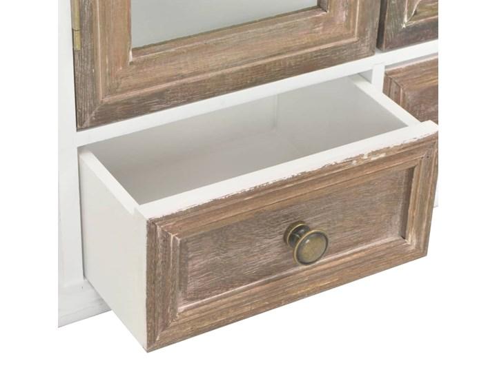 vidaXL Szafka wisząca, biała, 49 x 22 x 59 cm, lite drewno Kolor Biały