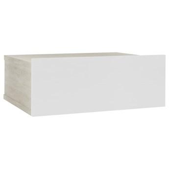 vidaXL Wisząca szafka nocna, biel i dąb Sonoma, 40x30x15 cm