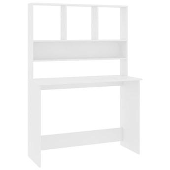 vidaXL Biurko z półkami, białe, 110x45x157 cm
