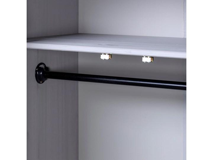 vidaXL Szafa trzydrzwiowa, szara, 118x50x171,5 cm, sosna, seria Panama Typ Gotowa Głębokość 50 cm Szerokość 118 cm Drewno Pomieszczenie Sypialnia