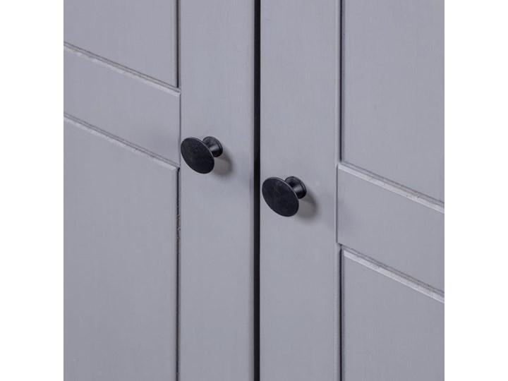 vidaXL Szafa trzydrzwiowa, szara, 118x50x171,5 cm, sosna, seria Panama Drewno Głębokość 50 cm Szerokość 118 cm Kategoria Szafy do garderoby