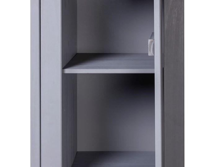 vidaXL Szafa trzydrzwiowa, szara, 118x50x171,5 cm, sosna, seria Panama Drewno Głębokość 50 cm Szerokość 118 cm Pomieszczenie Sypialnia Lustro