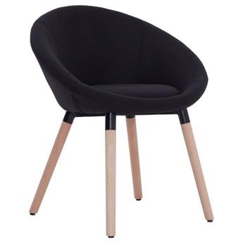 vidaXL Krzesła jadalniane, 4 szt., czarne, tapicerowane tkaniną