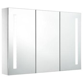 vidaXL Szafka łazienkowa z lustrem i LED, 89 x 14 x 62 cm