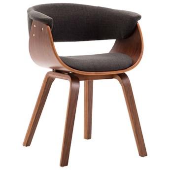 vidaXL Krzesła do jadalni, 6 szt., szare, gięte drewno i tkanina
