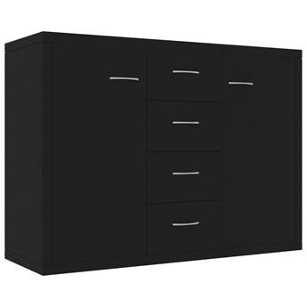 vidaXL Szafka, czarna, 88 x 30 x 65 cm, płyta wiórowa