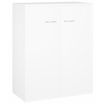 vidaXL Szafka, biała, 60 x 30 x 75 cm, płyta wiórowa