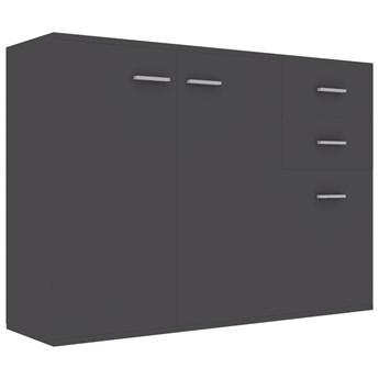 vidaXL Komoda, szara, 105 x 30 x 75 cm, płyta wiórowa