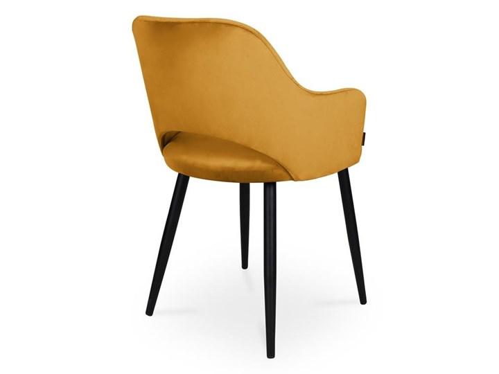 Bettso krzesło MARCY / miodowy / noga czarna / MG15 Wysokość 46 cm Metal Głębokość 43 cm Głębokość 57 cm Szerokość 50 cm Wysokość 76 cm Tkanina Kolor Żółty