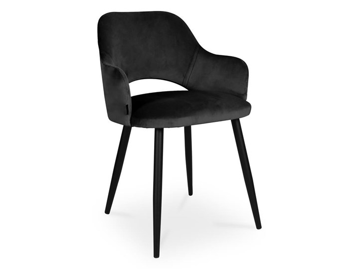 Bettso krzesło MARCY / czarny / noga czarna / MG19 Wysokość 46 cm Głębokość 57 cm Wysokość 76 cm Głębokość 43 cm Metal Szerokość 50 cm Tkanina Kategoria Krzesła kuchenne