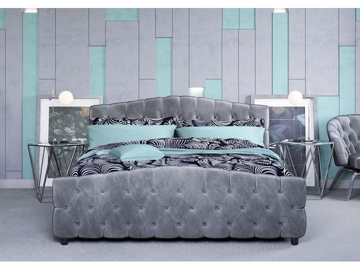 ŁÓŻKO 160X200 Z MATERACEM - FLORENCJA (SF892B) - WELUR POPIEL Łóżko tapicerowane Kategoria Łóżka do sypialni