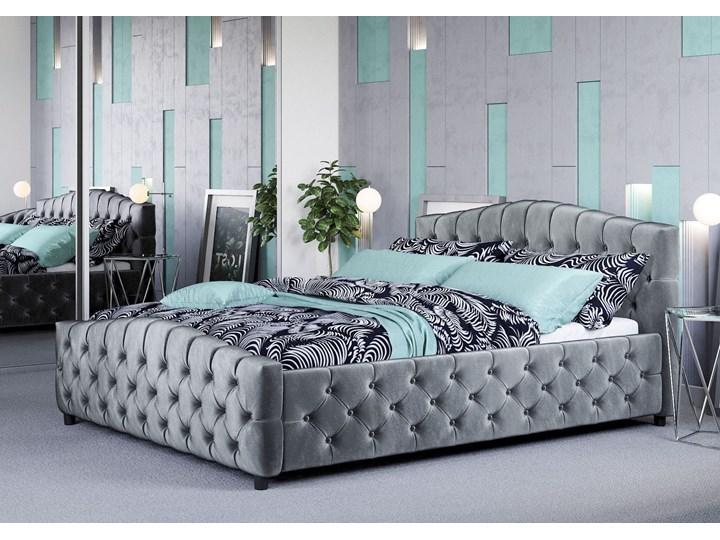 ŁÓŻKO 160X200 Z MATERACEM - FLORENCJA (SF892B) - WELUR POPIEL Łóżko tapicerowane Kategoria Łóżka do sypialni Kolor Szary