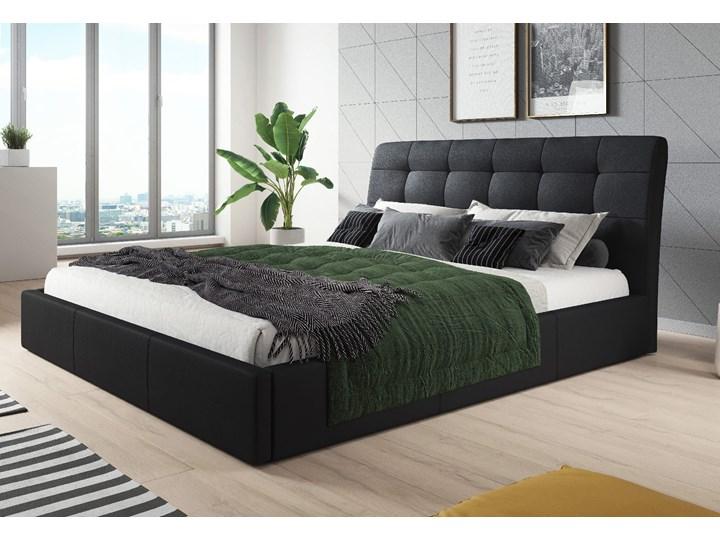 ŁÓŻKO TAPICEROWANE 160X200 Z POJEMNIKIEM - ALDO - KOLORY Kolor Czarny Kategoria Łóżka do sypialni